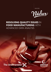 Process Quality Food Manufacturing - Nidar / CAMO case study